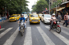 Traffic in Kolkata, India Stock Photography