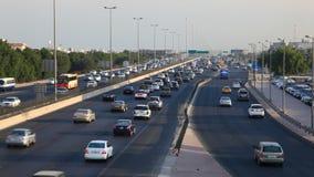 Traffic in Kuwait City stock video footage