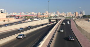Traffic in Kuwait City stock video