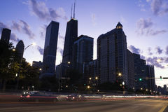 Traffic on Lake Shore Drive royalty free stock image