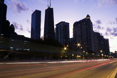Traffic on Lake Shore Drive Stock Photo