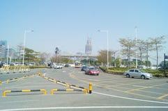 Traffic landscape of Shenzhen Bay Port Stock Photography