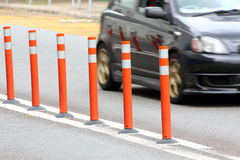 Traffic Lane Control Stick Royalty Free Stock Images
