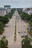 Traffic on Lane Xang avenue Royalty Free Stock Images