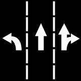 Traffic lanes royalty free illustration