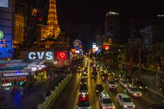 Night Scene on the Streets of Las Vegas Stock Images