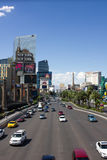 Traffic on Las Vegas Boulevard Royalty Free Stock Photo