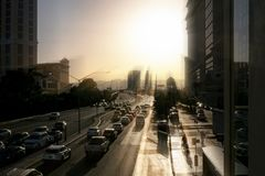 Traffic in the Las Vegas City royalty free stock photography