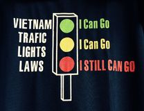 Traffic law. T-shirt Stock Image
