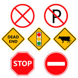 Traffic Laws labels for your product or design Stock Photos