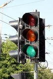 A traffic light Royalty Free Stock Photo