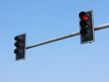Traffic Light. Over the street royalty free stock image