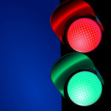 Traffic light. Signal stop, go symbol Stock Photos