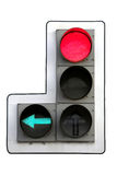 Traffic light. Isolated on white Stock Photography