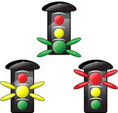 Traffic light. With different colors Stock Images
