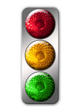 Traffic light. Color image isolated on a white background Royalty Free Stock Image