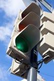 Traffic light. Street traffic light on the sky background Royalty Free Stock Photo