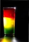 Traffic light. Original designer cocktail: traffic light in three layers Royalty Free Stock Photos