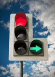 Traffic light. City traffic light on blue sky background Royalty Free Stock Images