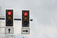 Traffic Light. Some traffic lights in the down town Stock Photo