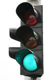 Traffic light. On white background Royalty Free Stock Image