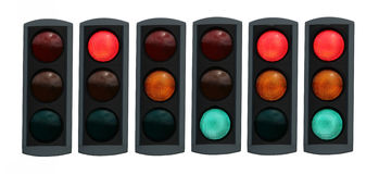 Traffic light. Isolated traffic light in all combinations. Cut and use Stock Photo