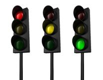 Traffic light. Illustration of a traffic light with three colours Royalty Free Stock Photo