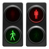 Traffic light. Red and green traffic lights. Vector available Stock Photo