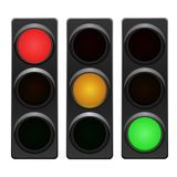Traffic light. In all combinations. Vector available Stock Images
