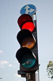 Traffic light. On blue sky Royalty Free Stock Images