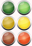 Traffic light. S isolated on white background Stock Photos