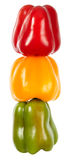 Traffic light. The multi-coloured sweet peppers combined as a traffic light Royalty Free Stock Images