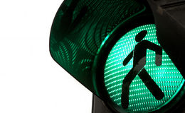 Traffic light. S with the green light lit Stock Image