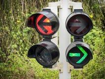 Traffic light. Arrows at a traffic light in berlin - germany Stock Photo