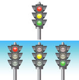 Traffic Light. With sky background Stock Photo