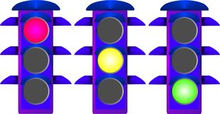 Traffic light. All vector illustration