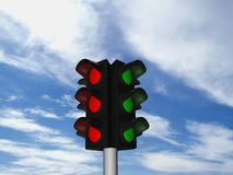 The traffic light Royalty Free Stock Images