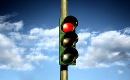 A traffic light. And sky Royalty Free Stock Photography