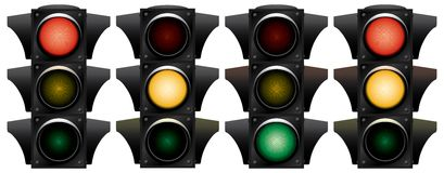 Traffic-light. Royalty Free Stock Photo