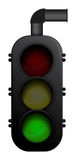 Traffic Light. Illustration of a traffic light in front view. vector format with layers to turn the lights on / off Stock Image