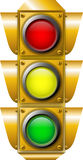 Traffic light. Isolated on white Stock Images