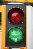 Traffic light. Bicoloured traffic light (red and green Royalty Free Stock Photo