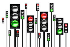 Traffic Light. An illustration of traffic lights with red and green lights Royalty Free Stock Photo