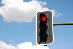 Traffic light. In the sky Royalty Free Stock Photos