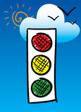 Traffic-light. Royalty Free Stock Image