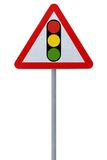 Traffic Light Ahead Royalty Free Stock Photography