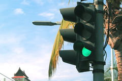 The traffic light allows movement Stock Images