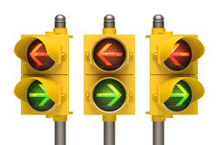 Traffic Light Arrow Royalty Free Stock Photo