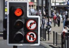 Traffic Light At Road Junction Stock Image
