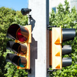 Traffic light with beeper Royalty Free Stock Images